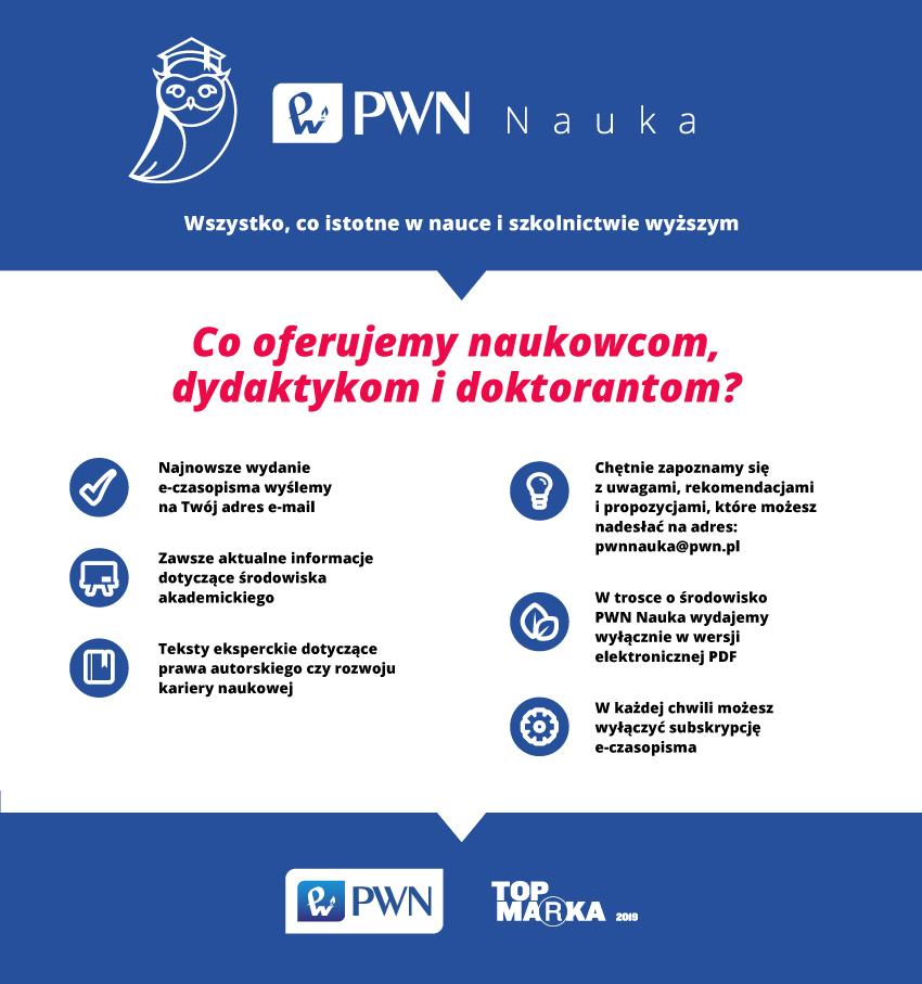 PWN Nauka - plakat promujący e-magazyn